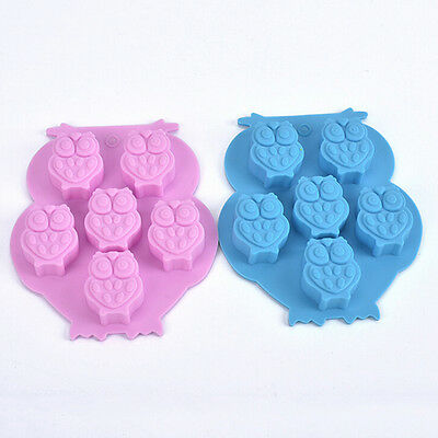 New Silicone Owl Chocolate Cake Cookie Mould Baking Molds Ice Cube Tray Brown MW
