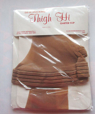 U.S.A Sheer thigh high Garter Top Gala nylon hold up stockings Size Large