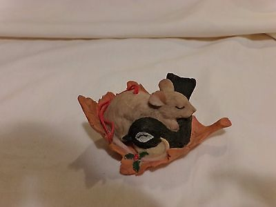 Charming Tails 86/785 Catchin Zzz's Ornament Rare Signed Vintage Griff(73)