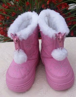 Toddler Girls Pink  / Silver Falls Creek Winter Snow Boots Size 5 New Nwot