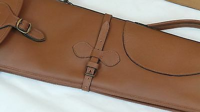 """Genuine thick cow hide Leather 53"""" Gun Cover,Slip,Case, Brand New, Hunting."""