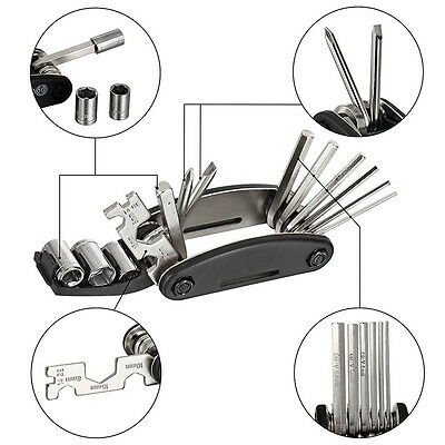 Bicycle Bike Cycling Puncture Multi Function Spanner Repair Tool Kit Set New