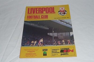 Genuine Vintage Liverpool v Norwich Super Cup Football Programme 6th May 1986