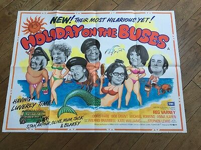 Original On The Buses Uk Quad Poster