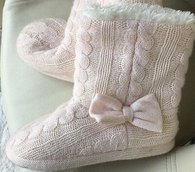 Ladies Boot Slippers Size 7  H & M