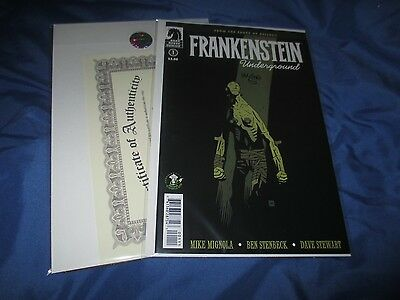 FRANKENSTEIN UNDERGROUND #1 Signed Variant Comic by Mike Mignola ~VARIANT ECCC