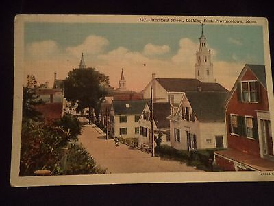 Postcard Bradford Street Looking East Provincetown Ma Unposted