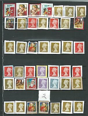 42 GB STAMPS  1st CLASS    UNFRANKED    ON PAPER   LOT  2