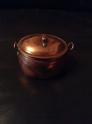 Small vintage copper inkwell In The Shape Of A Cooking Pot