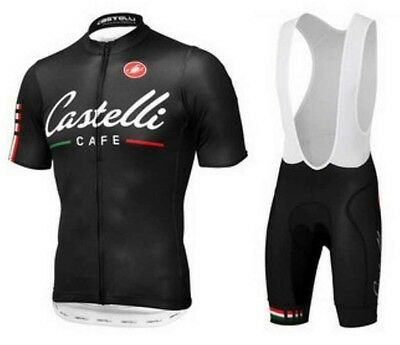 Castelli Sidi Replica Cycling Jersey and Bib Short Set Racing Pro