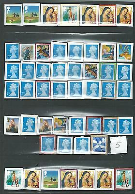 50 GB STAMPS   2nd CLASS    UNFRANKED    ON PAPER   LOT   5
