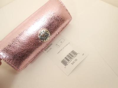 BRIGHTON   twister  LIPSTICK / LIPGLOSS CASE  NEW WITH TAG  PINK METALLIC  $42