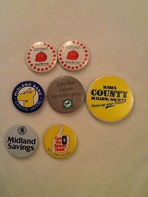 Bank and Building Society badges