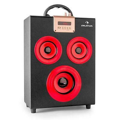 Auna Central Park Portable Boombox 2.1 Speaker System Hifi Stereo Fm Radio