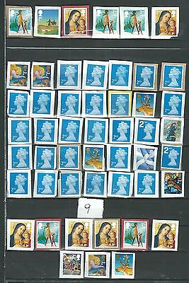 50 GB STAMPS   2nd CLASS    UNFRANKED    ON PAPER   LOT  9