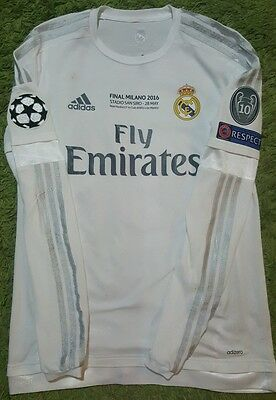 RONALDO Match Worn FINAL CL 2016 Real Madrid porté indossata Champions League