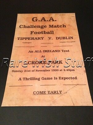 Bloody Sunday 1920-Tipperary V Dublin Poster GAA Croke Park War of Independence