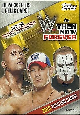 2016 Topps WWE THEN NOW FOREVER Wrestling Trading Cards 71ct. Value/Blaster Box