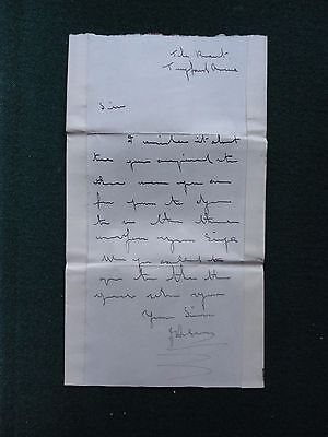 Signed Autograph Letter to British Prime Minister William Pitt Downing Street