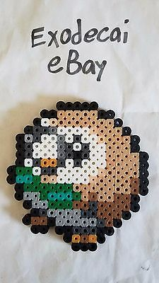 Rowlet Pokemon Bead Sprite Perler Art Menu Icon