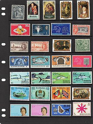 Collection of mint nbh Commonwealth stamps.