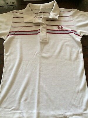 Vintage Fred Perry Tennis Squash Top 1980s Size 8 In VGC