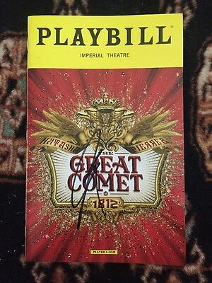 Josh Groban Signed The Great Comet Playbill