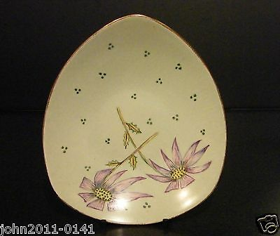 Midwinter Stylecraft Fashion Shape Dish Vintage 1950s Hand Painted M.B.C.