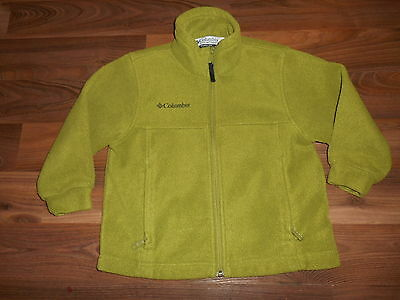 Columbia Fleece lightweight Jacket Boys Green Youth Size Small 5 6 VGUC Full Zip
