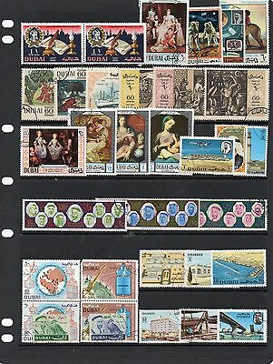 Collection of Fu stamps of Dubai.