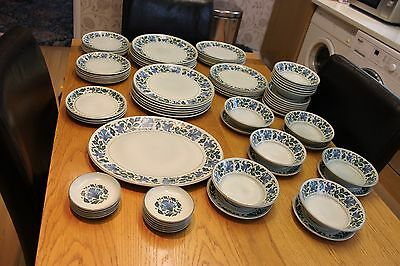 64pc.  Midwinter stonehenge caprice dinner plates/side plates/ cereal/soup bowls