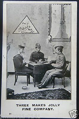 Bass Ale ~ Sailor ~ Soldier ~ Policeman ~ Living Picture Series ~ Posted 1907