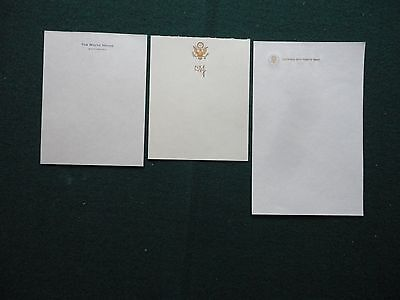 Antique Embossed Unused USA President LBJ Stationery White House Air Force One