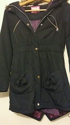 Ted Baker Girls Blue parka coat age 13