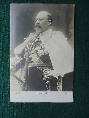 Antique Photographic Postcard King Edward VII in Coronation Outfit