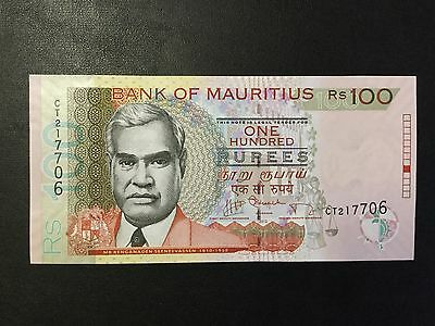 2012 Mauritius Paper Money - 100 Rupees Banknote !