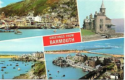 Greetings from Barmouth - Wales - Multiview - Dennis Postcard