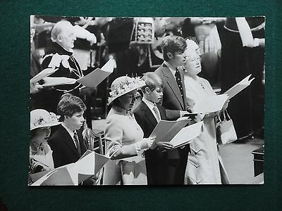 Antique Press Photo of Princess Margaret Queen Mother Prince Andrew Westminster