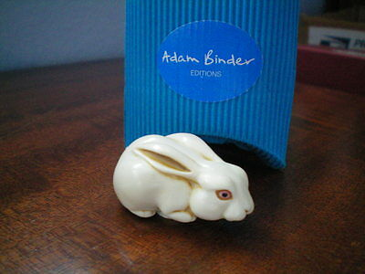 Adam Binder Editions White Rabbit Palm Charm Necklace Marble Resin UK Made