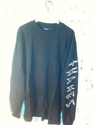 Thames Long Sleeved T Shirt With Logo On Arm In Black BNWT XL