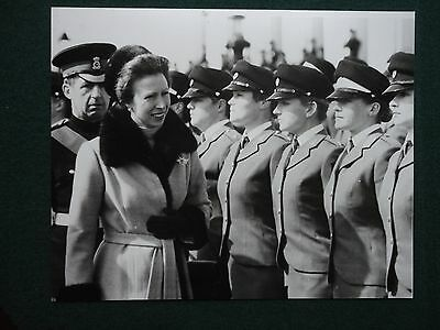 Fine Antique Press Photo of a Young Princess Anne at a Women's Military Review