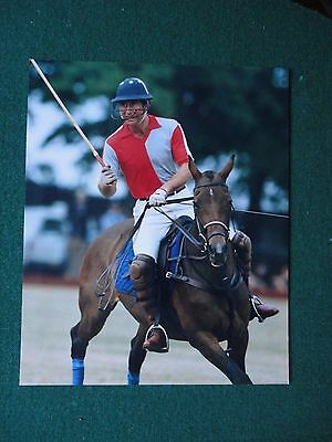 Fine Antique Press Photo of Prince Charles Playing Polo on his Horse