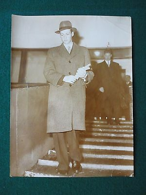 Fine Antique Original Press Photo of King Harald V of Norway as a Young Man