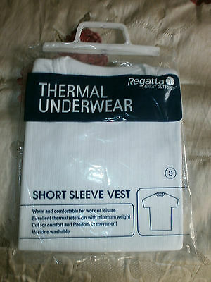 "Regatta Great Outdoors White Thermal T Shirt, Small, 38"", Brand New"