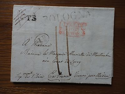 Fine Signed Letter from Louis Guastavillani 1838 Bologna Italy to Vienna Marquis