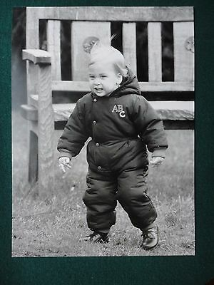 Fine Press Photo of Baby Prince William First Steps Kensington Palace 1984