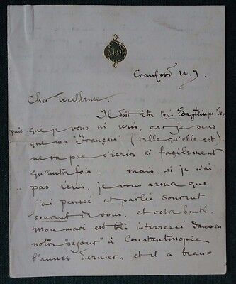Interesting Signed Letter from American Edith Darling-Harraman 1900