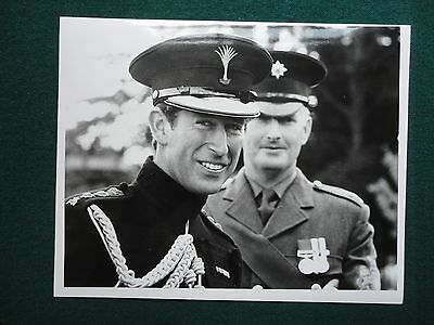 Fine Press Photo of a Smiling Prince Charles in Military Uniform