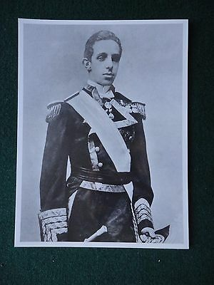 Original Photo & Negative of King Alfonso XIII of Spain