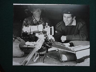 Fine Press Photo of Prince Charles with a Machine Gun